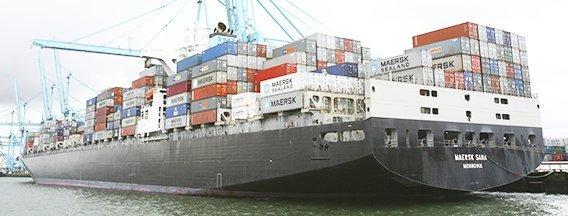 Containerschip nieuws header