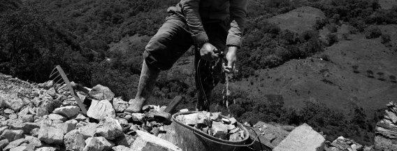 Miner at work