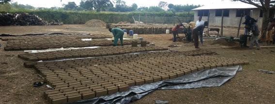 Finish toilet bricks