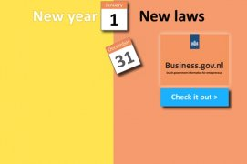 Business.gov New year, new laws banner