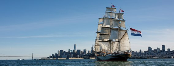 Clipper Stad Amsterdam bij San Francisco
